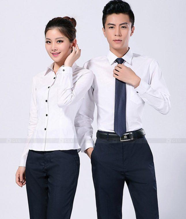 Dong Phuc Cong Ty GLU CT93 áo đồng phục công ty đẹp