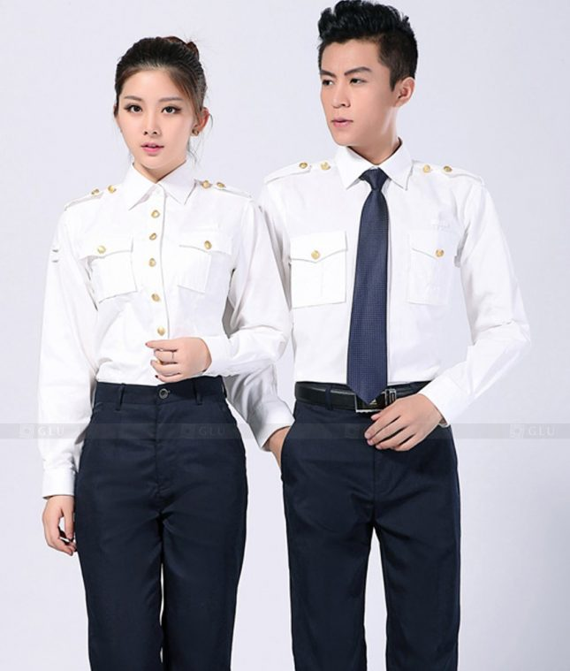 Dong Phuc Cong Ty GLU CT95 áo đồng phục công ty đẹp