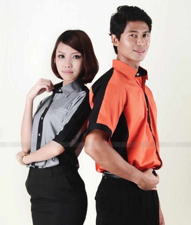 Dong Phuc Cong Ty GLU CT98 đồng phục công ty đẹp