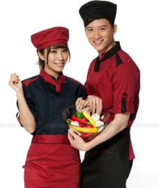 Dong Phuc Dau Bep GLU DB197 đồng phục đầu bếp