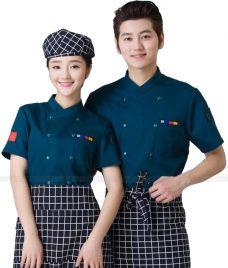 Dong Phuc Dau Bep GLU DB198 đồng phục đầu bếp