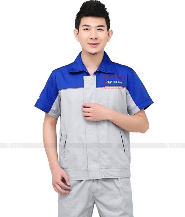 Dong phuc cong nhan GLU CN1001 mẫu áo công nhân