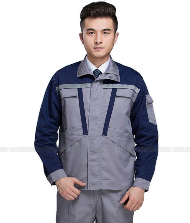Dong phuc cong nhan GLU CN1002 mẫu áo công nhân
