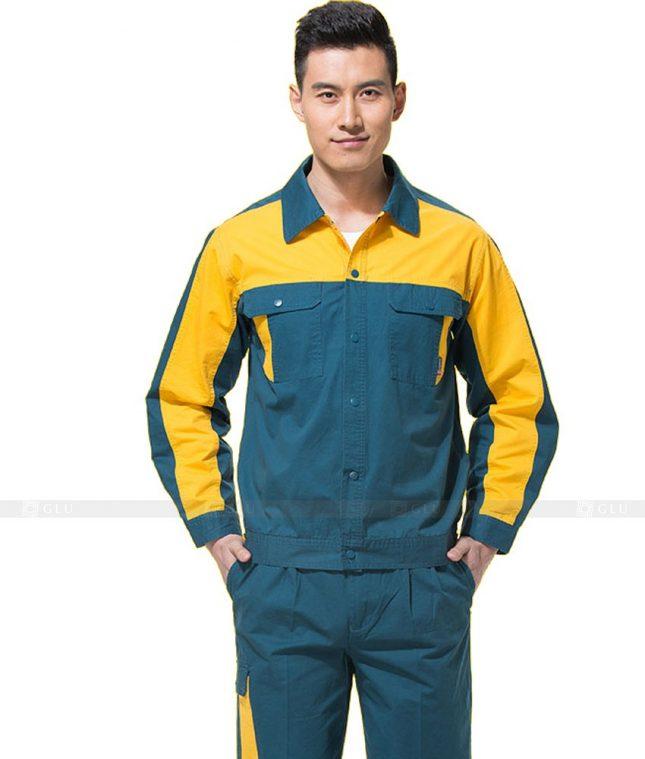 Dong phuc cong nhan GLU CN1003 mẫu áo công nhân