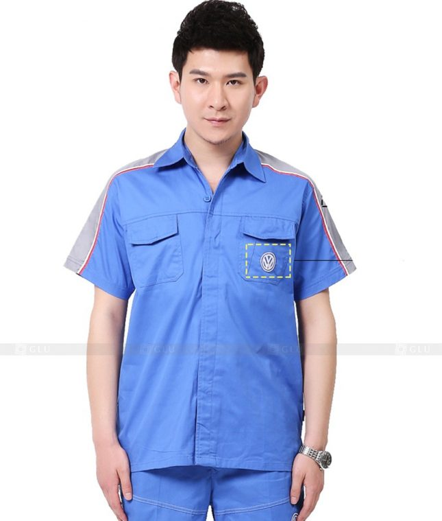 Dong phuc cong nhan GLU CN1004 mẫu áo công nhân