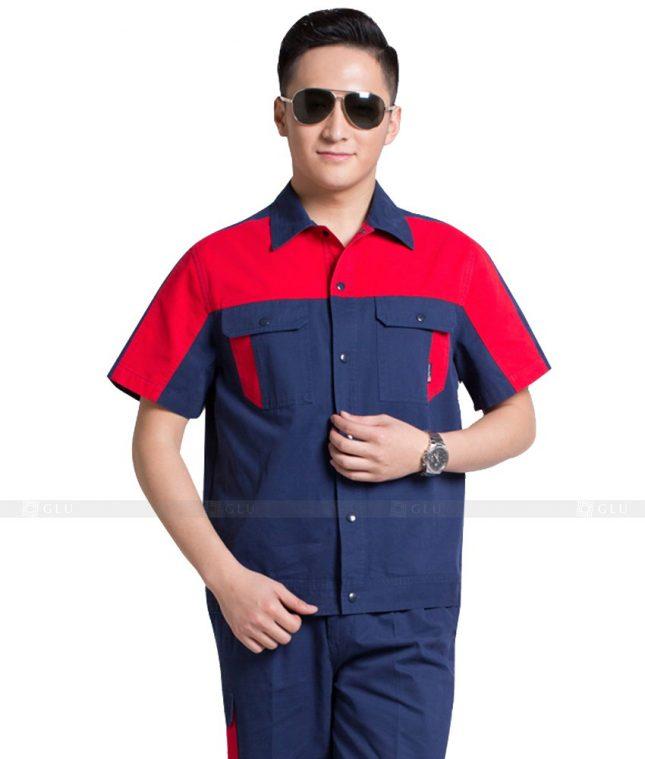 Dong phuc cong nhan GLU CN1006 mẫu áo công nhân
