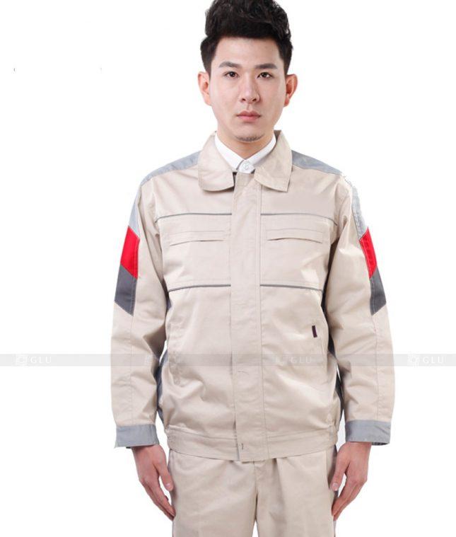 Dong phuc cong nhan GLU CN1009 mẫu áo công nhân