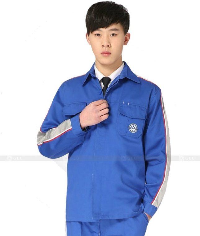 Dong phuc cong nhan GLU CN1010 mẫu áo công nhân