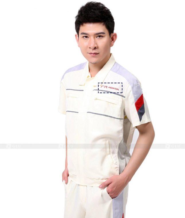 Dong phuc cong nhan GLU CN1011 mẫu áo công nhân