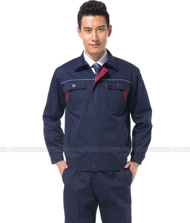 Dong phuc cong nhan GLU CN1012 mẫu áo công nhân