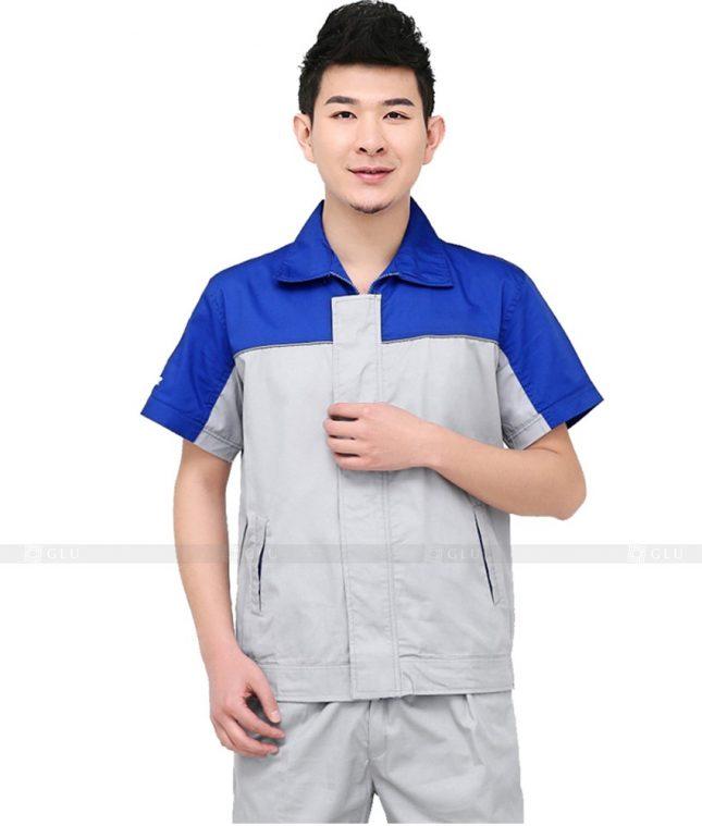 Dong phuc cong nhan GLU CN1013 mẫu áo công nhân