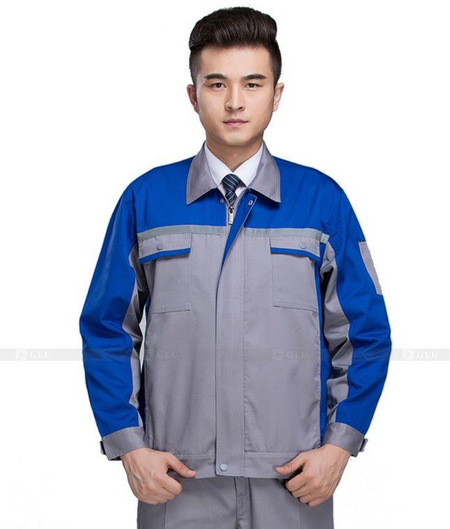 Dong phuc cong nhan GLU CN1014 mẫu áo công nhân