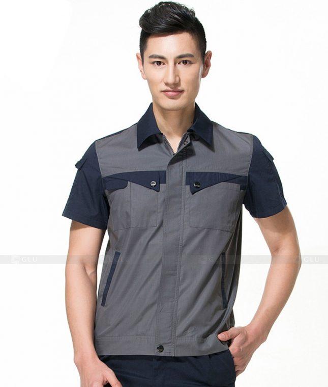 Dong phuc cong nhan GLU CN1015 mẫu áo công nhân