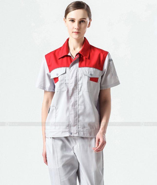 Dong phuc cong nhan GLU CN1016 mẫu áo công nhân