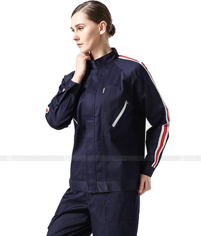 Dong phuc cong nhan GLU CN1017 mẫu áo công nhân