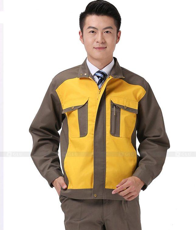 Dong phuc cong nhan GLU CN1019 mẫu áo công nhân