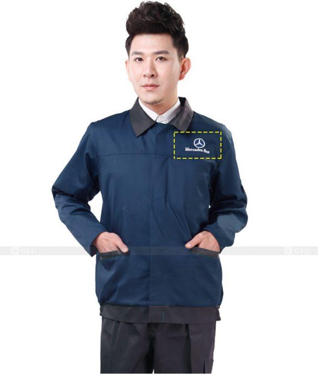 Dong phuc cong nhan GLU CN1021 mẫu áo công nhân