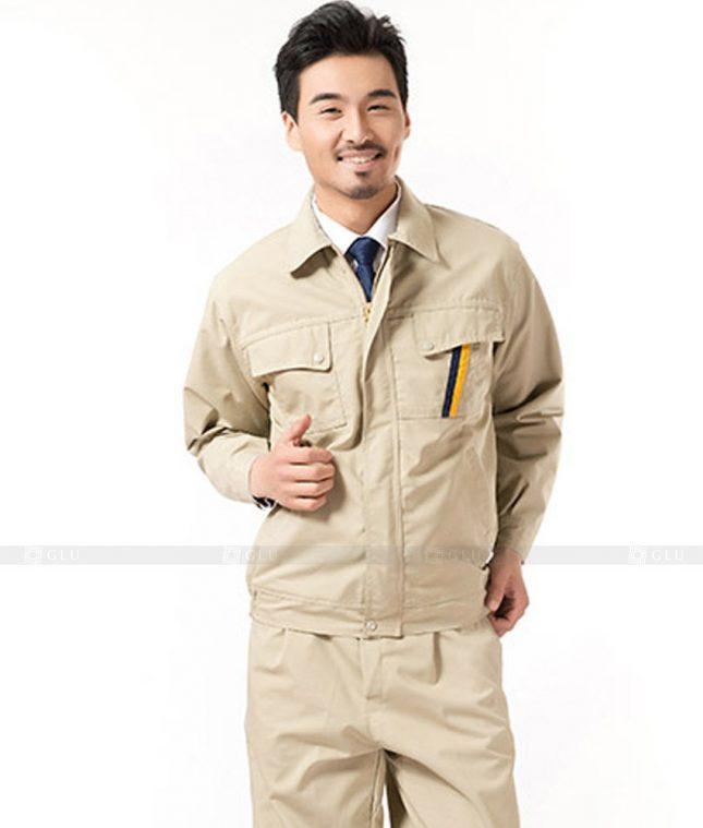 Dong phuc cong nhan GLU CN1022 mẫu áo công nhân