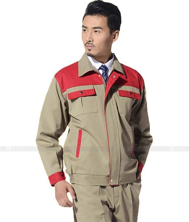 Dong phuc cong nhan GLU CN1023 mẫu áo công nhân
