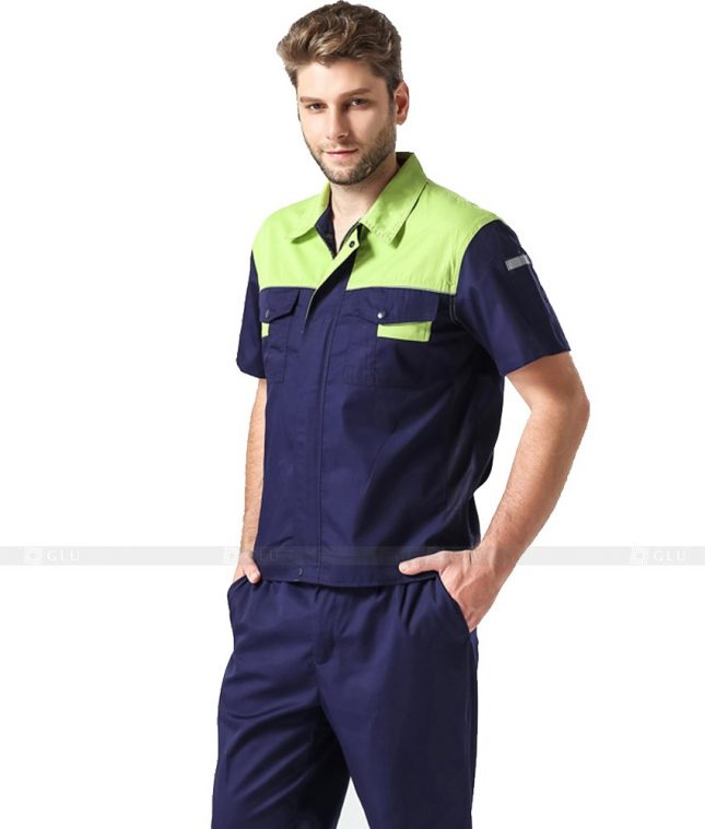 Dong phuc cong nhan GLU CN1025 mẫu áo công nhân