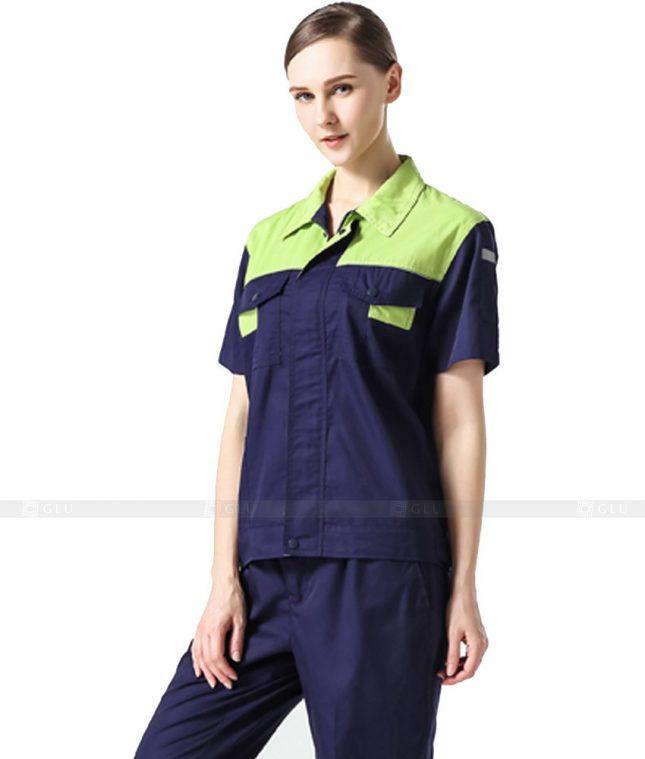 Dong phuc cong nhan GLU CN1025 2 mẫu áo công nhân