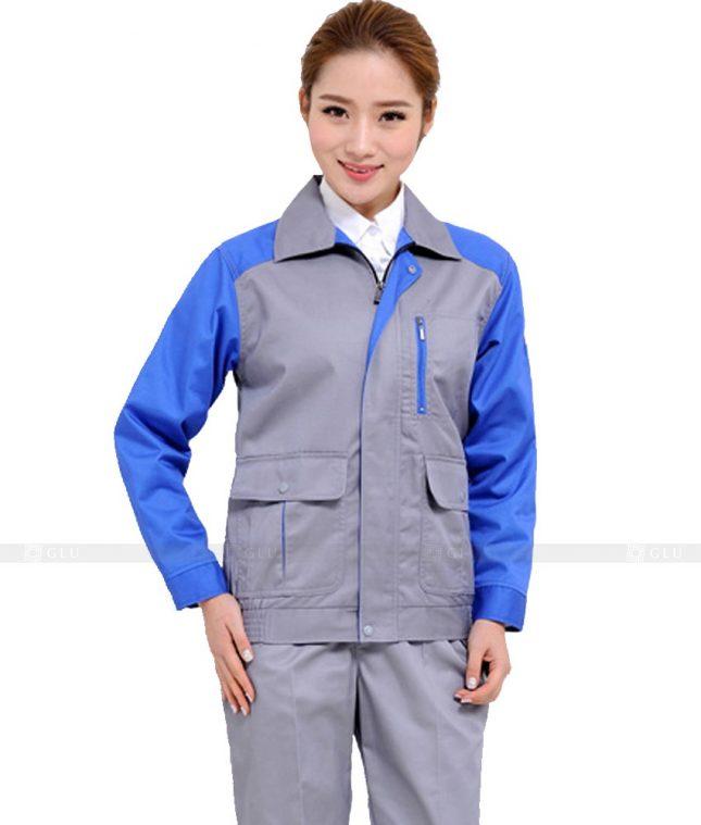 Dong phuc cong nhan GLU CN1027 mẫu áo công nhân