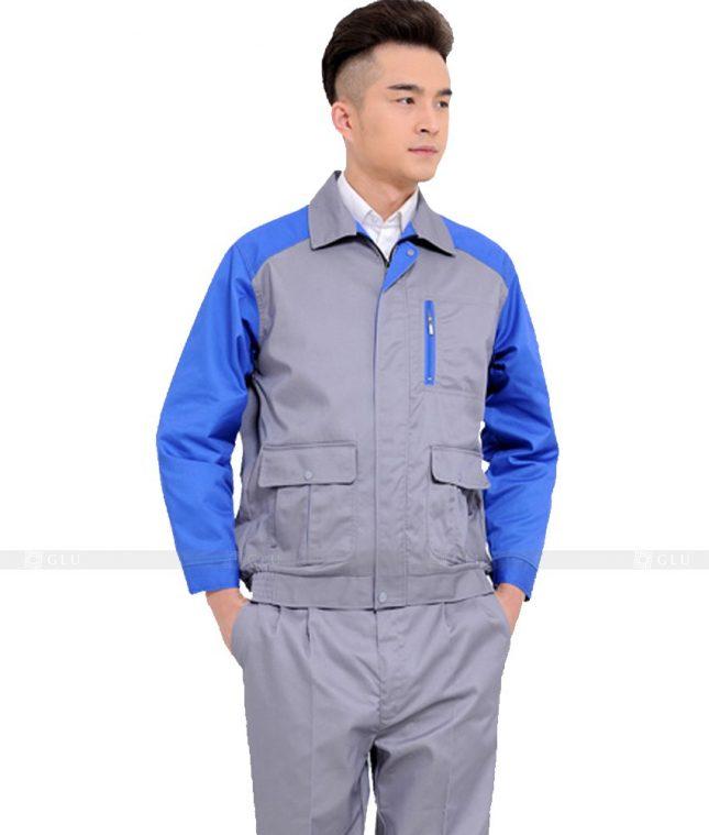 Dong phuc cong nhan GLU CN1027 2 mẫu áo công nhân