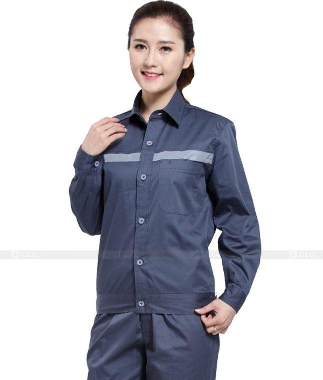Dong phuc cong nhan GLU CN1030 mẫu áo công nhân