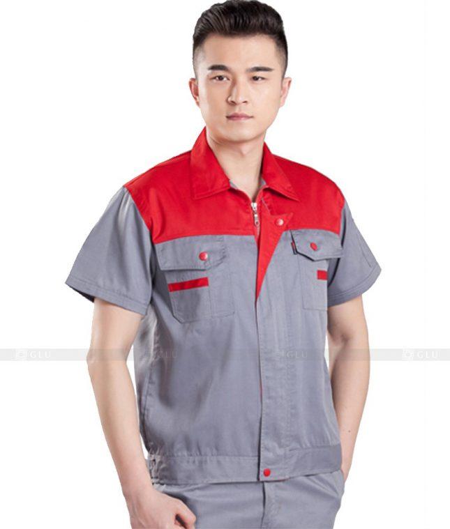 Dong phuc cong nhan GLU CN1031 2 mẫu áo công nhân