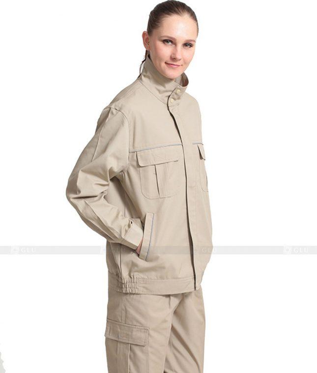 Dong phuc cong nhan GLU CN1036 mẫu áo công nhân