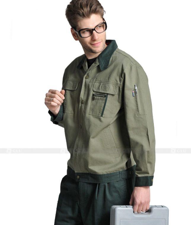Dong phuc cong nhan GLU CN1038 2 mẫu áo công nhân