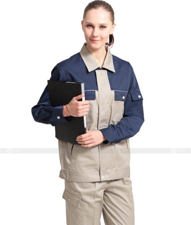 Dong phuc cong nhan GLU CN1039 mẫu áo công nhân
