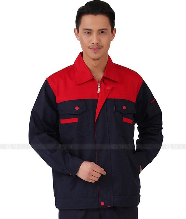 Dong phuc cong nhan GLU CN1041 mẫu áo công nhân