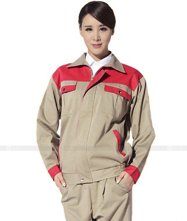 Dong phuc cong nhan GLU CN1042 mẫu áo công nhân