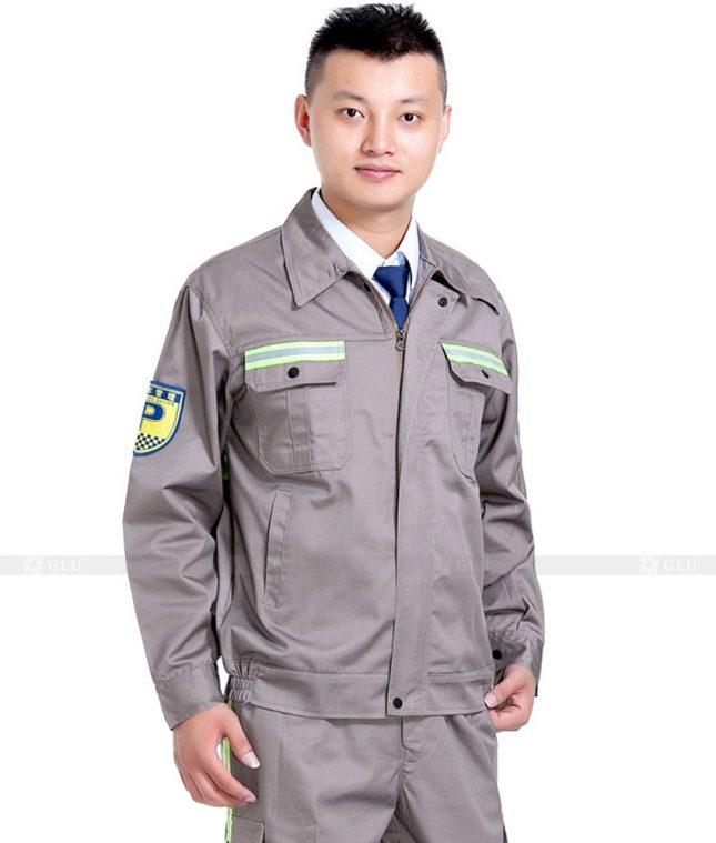 Dong phuc cong nhan GLU CN1045 mẫu áo công nhân