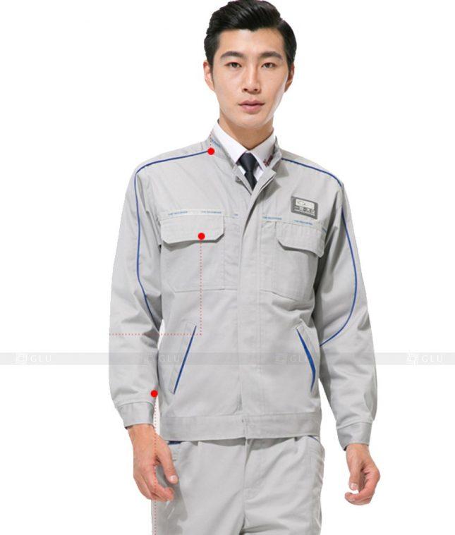 Dong phuc cong nhan GLU CN1047 mẫu áo công nhân