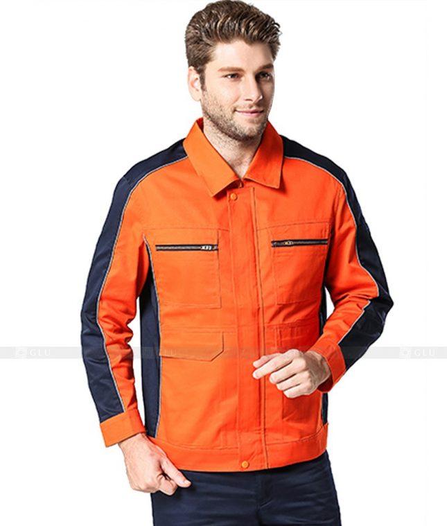 Dong phuc cong nhan GLU CN1051 2 mẫu áo công nhân
