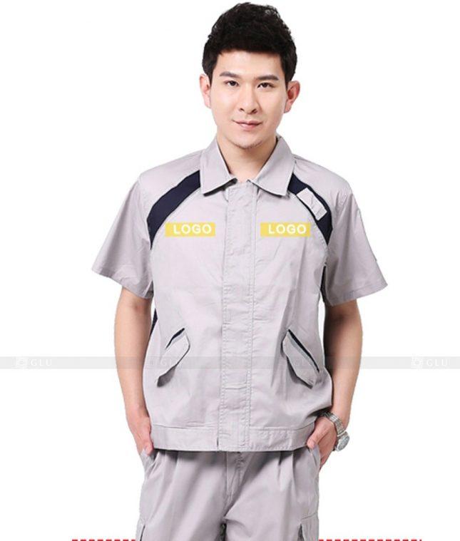 Dong phuc cong nhan GLU CN1060 mẫu áo công nhân