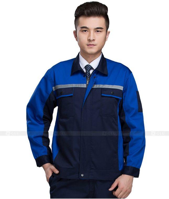 Dong phuc cong nhan GLU CN1061 mẫu áo công nhân