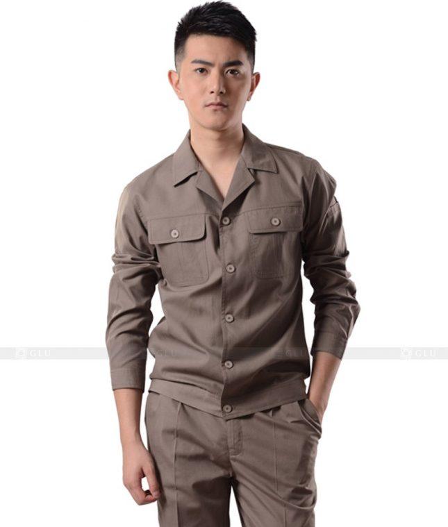 Dong phuc cong nhan GLU CN1063 mẫu áo công nhân