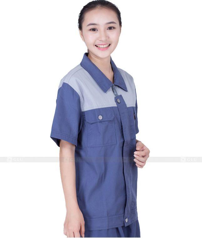 Dong phuc cong nhan GLU CN1064 mẫu áo công nhân