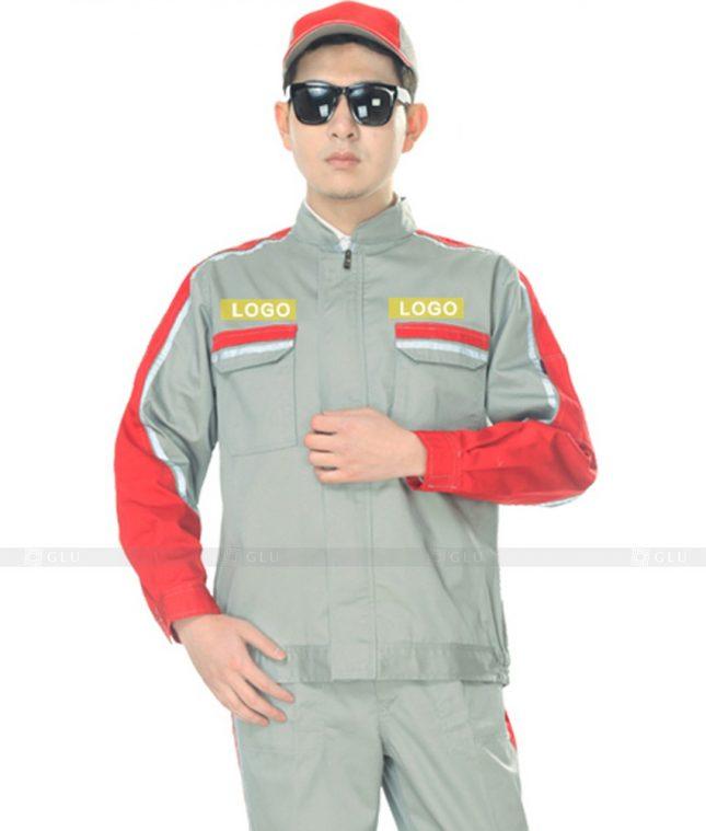 Dong phuc cong nhan GLU CN1066 mẫu áo công nhân