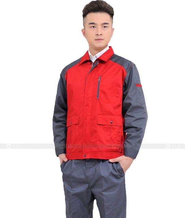Dong phuc cong nhan GLU CN1067 2 mẫu áo công nhân