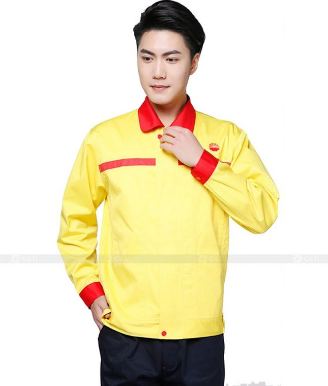 Dong phuc cong nhan GLU CN1070 mẫu áo công nhân