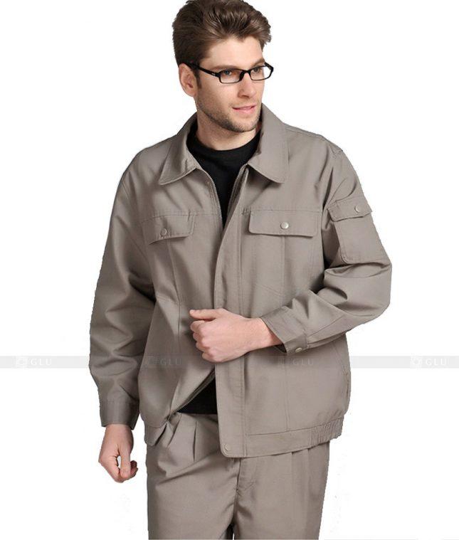 Dong phuc cong nhan GLU CN1071 mẫu áo công nhân