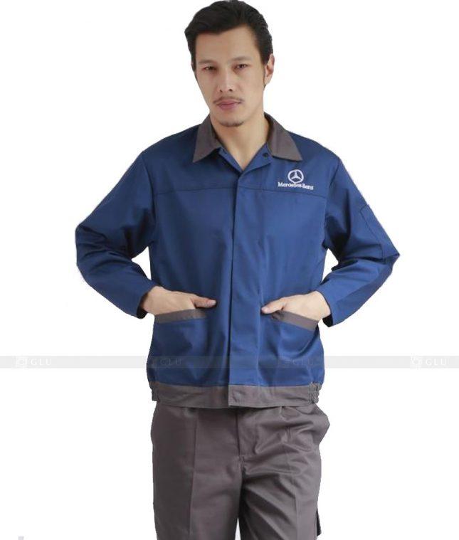 Dong phuc cong nhan GLU CN1080 mẫu áo công nhân