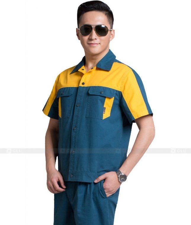 Dong phuc cong nhan GLU CN1083 2 mẫu áo công nhân
