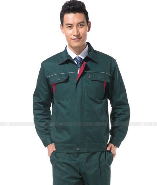 Dong phuc cong nhan GLU CN1084 mẫu áo công nhân