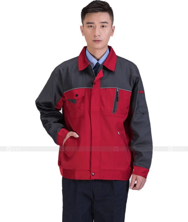 Dong phuc cong nhan GLU CN1087 mẫu áo công nhân