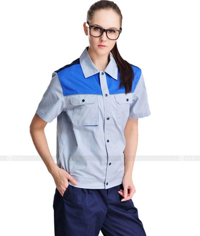 Dong phuc cong nhan GLU CN1089 mẫu áo công nhân